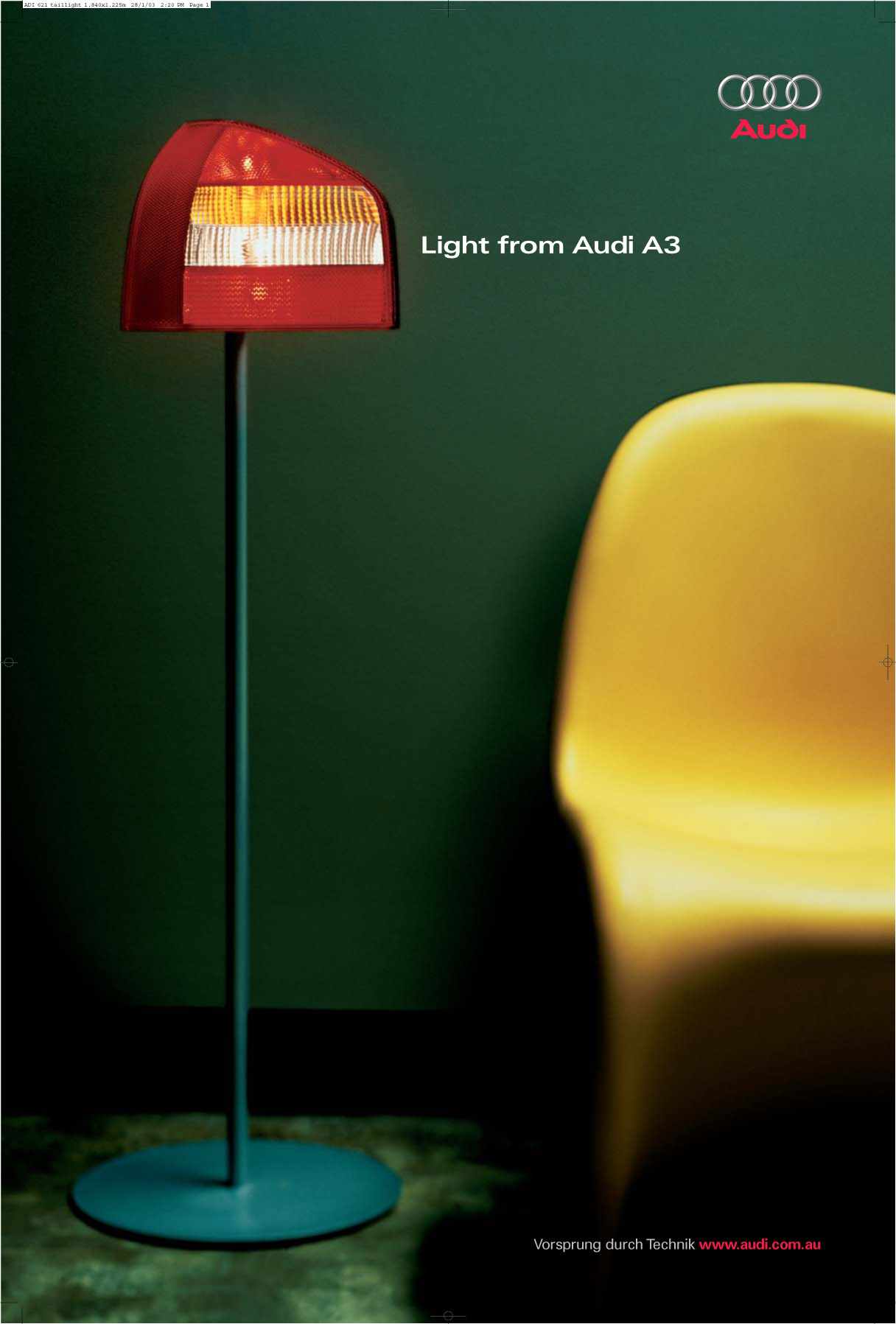Audi 2 tail light