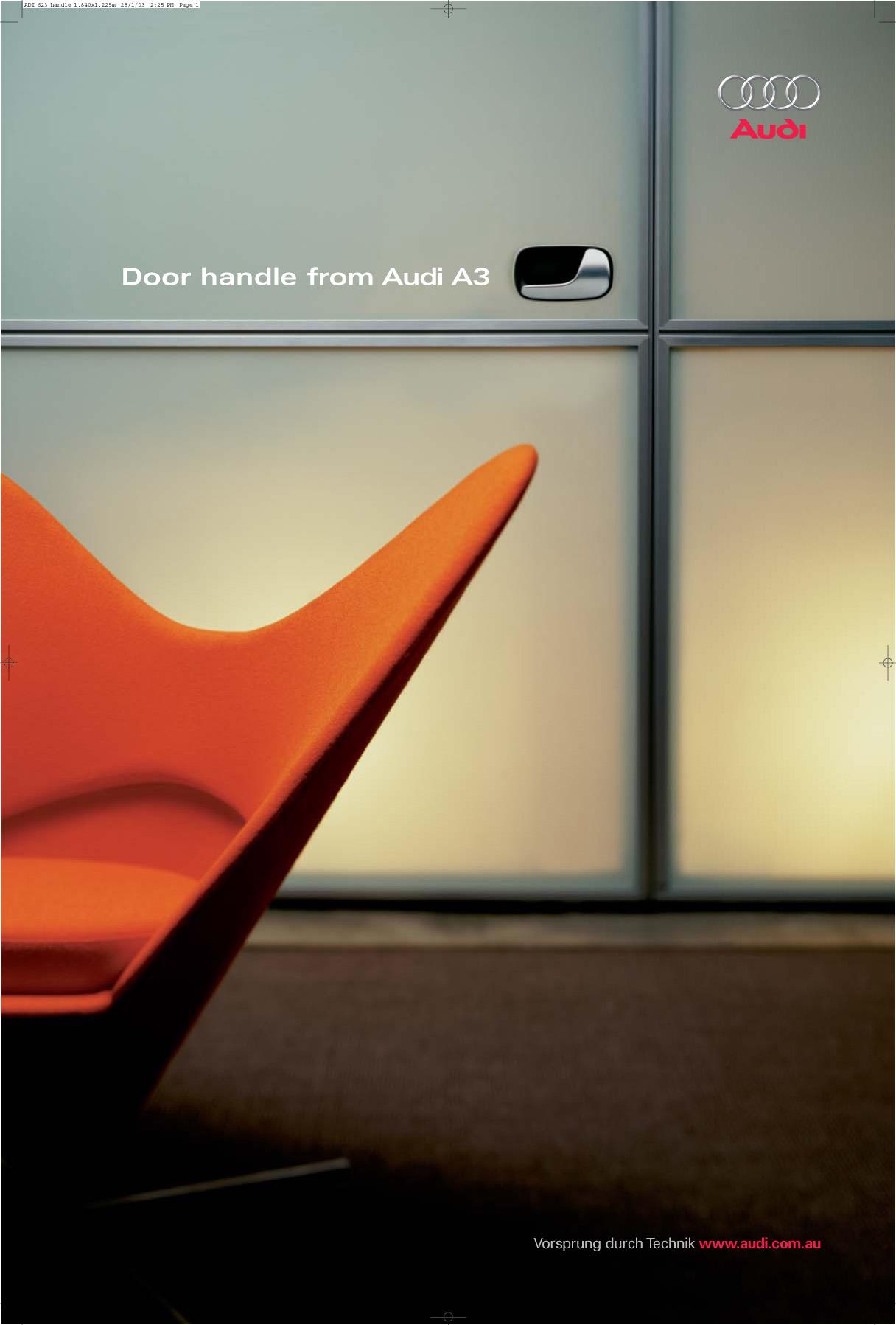 Audi 3 door handle