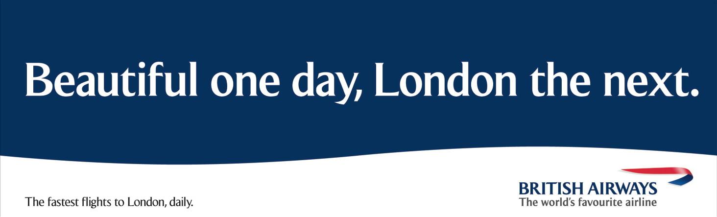 British Airways BEAUTIFUL ONE DAY