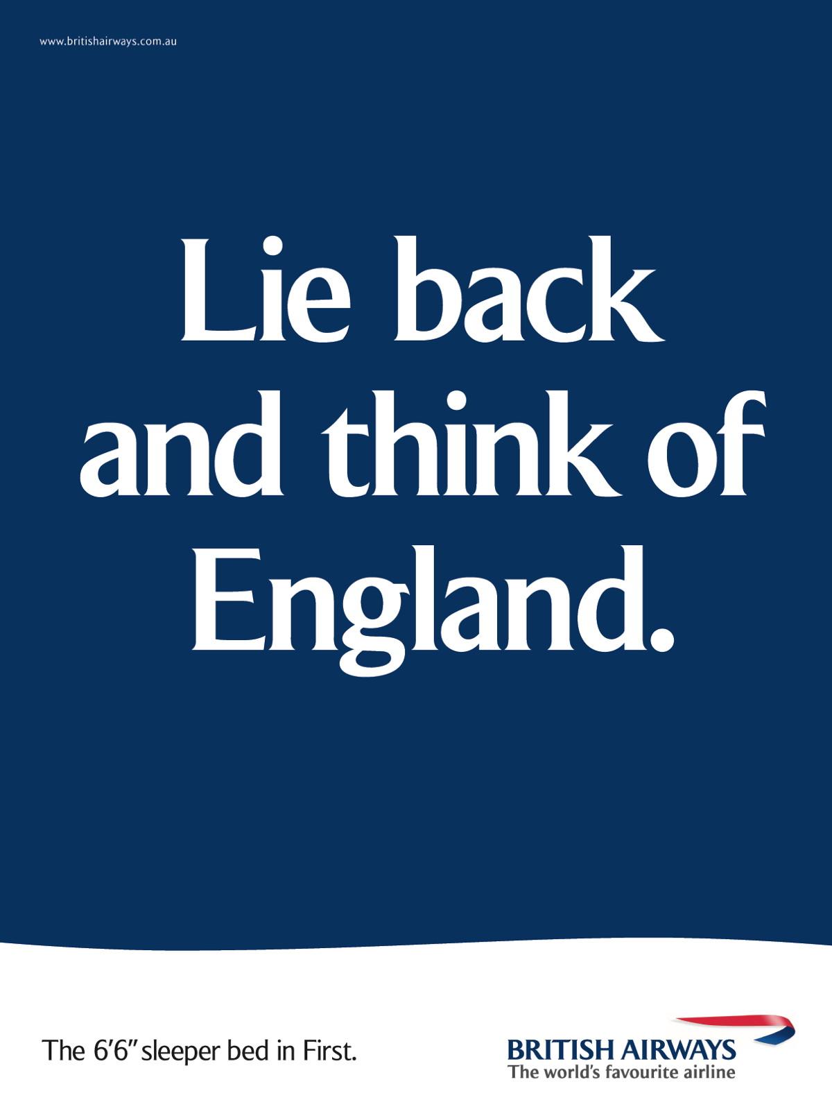 British Airways Lie back