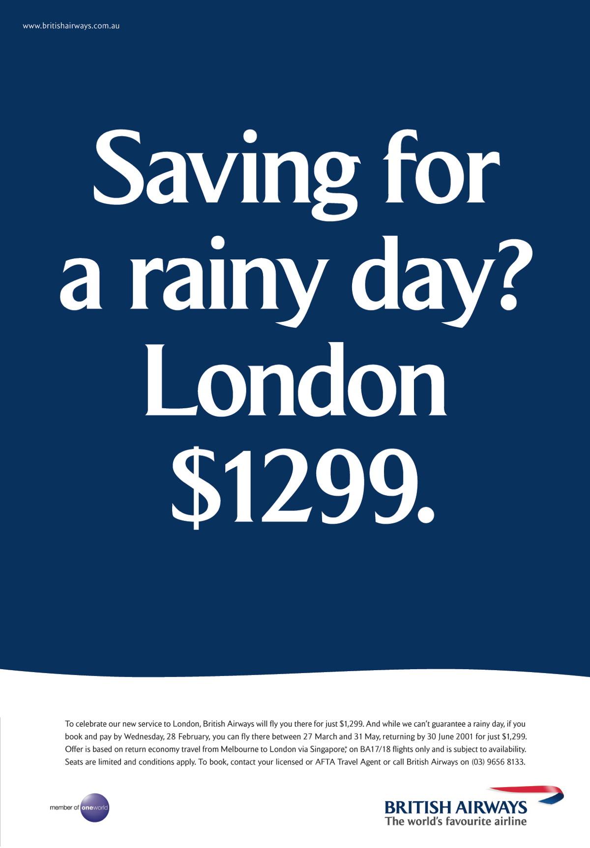 British Airways Rainy