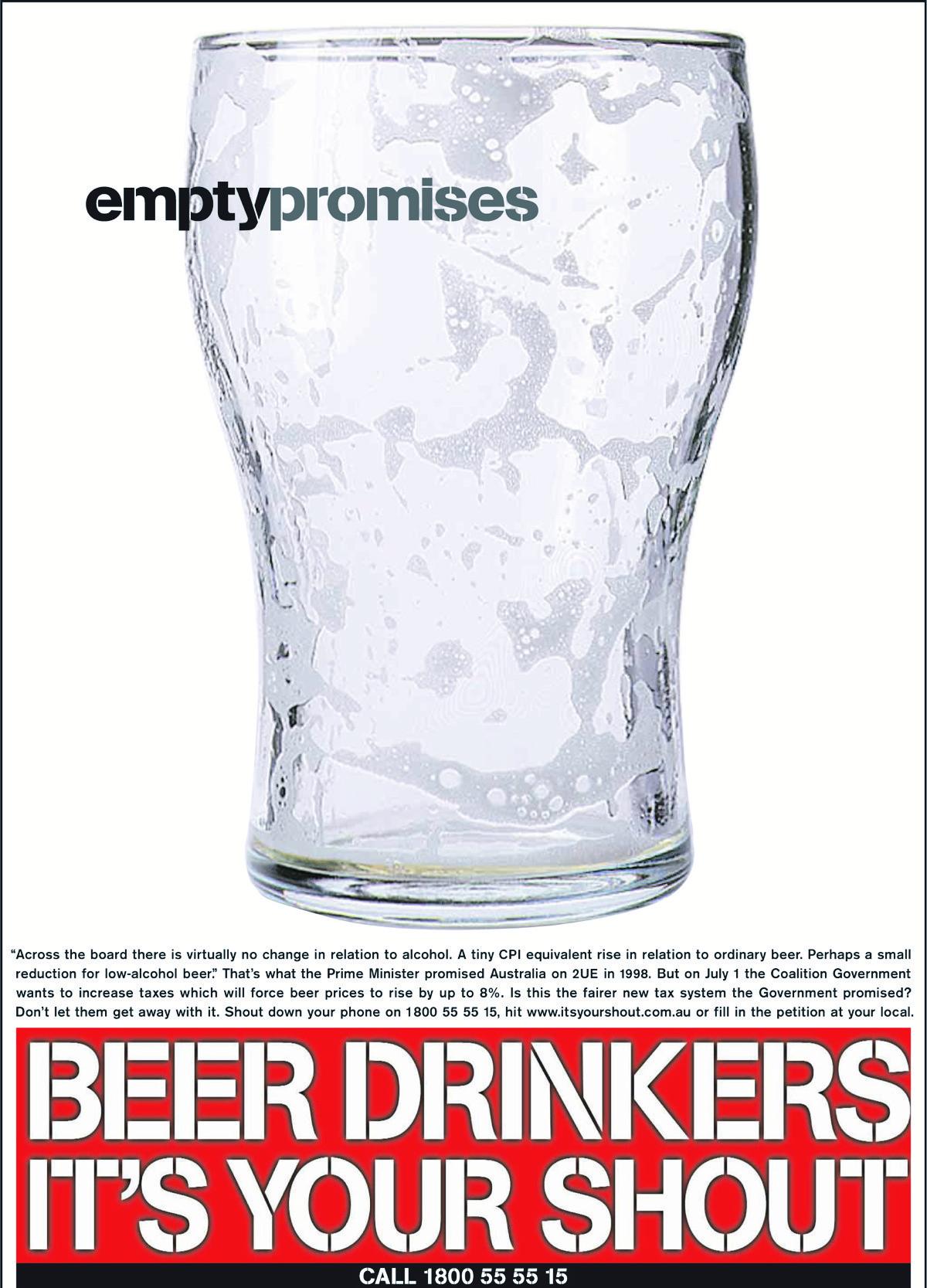Aussie Beer - Empty