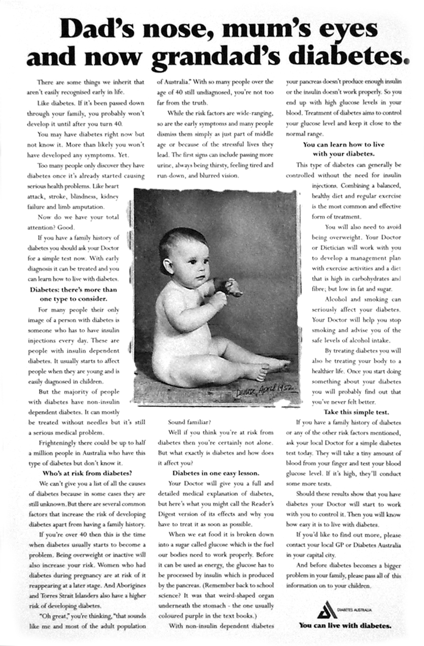 Diabetes Australia - Baby